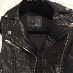 Mackage Leather vest xxs